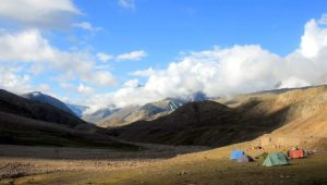 Jamaica's camping ground inear Chandrataal Lake, Spiti, Himachal Pradesh