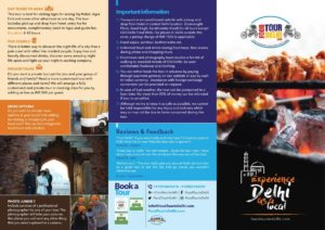 BROCHURE Food Tour In Delhi - Side 1