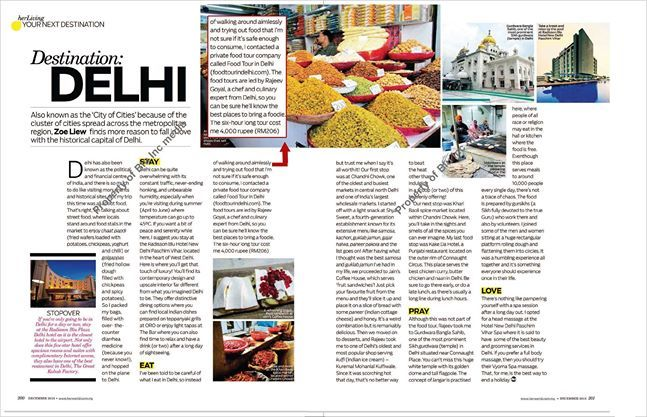 Her World Magazine Food Tour In Delhi